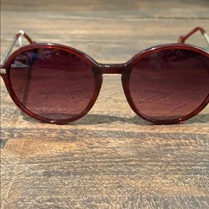 NWT Anthropologie ett:twa raspberry Sunglasses